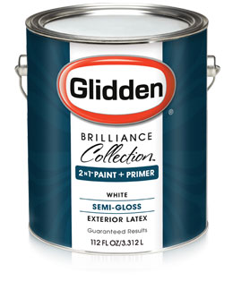 Glidden brilliance collection semi gloss exterior paint primer - Waterproofing paint for exterior walls collection ...