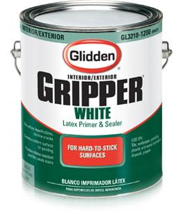 Glidden White Gripper Primer For Light Paint Colors