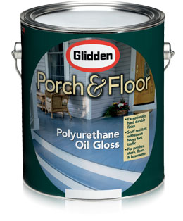 Glidden Porch Floor Oil Alkyd Polyurethane Gloss