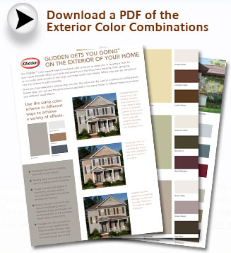 Download Exterior Color CardGlidden Paint of Glidden Exterior Paint Color Chart